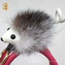 Популярный новый брелок для аксессуаров Подлинная фок-мех Custom Hedgehog Fur Keychain