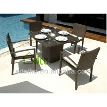 outdoor rattan furniture square dining set