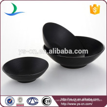 Contemporary Housewares Stoneware Black Bowl Set