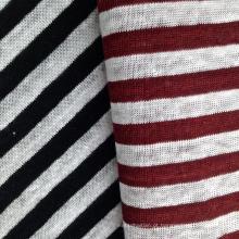 Tecido de linho tingido de fios para t-shirt (QF14-1546-SS)