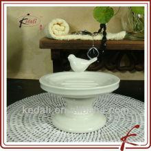 Держатель для мыла из керамики с птицей
