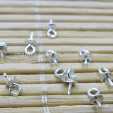 925 Sterling silver diy accessories for pendant pearl pendant buckle beaded accessories SEF005