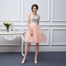 Gorgeous Crystals Beaded Tulle Homecoming Dresses 2016 Hot Sale Sweetheart Backless Tea Length Prom Dresses Formal Party Gowns