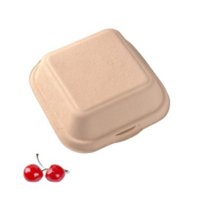 Eco friendly Biodegradable pulp Burger lunch box