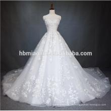 2018 China Guangzhou Brautkleid Luxus Brautkleid hohe Qualität weiße Farbe Puffy Prinzessin Brautkleid