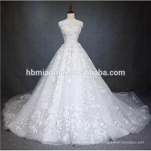 2018 China Guangzhou vestido de casamento vestido de noiva de luxo de alta qualidade cor branca vestido de casamento da princesa inchado