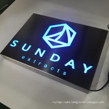 Customized rectangular metal wall mountingLED advertising light box  signs
