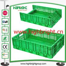 Caisse de stockage en plastique pliable et empilable