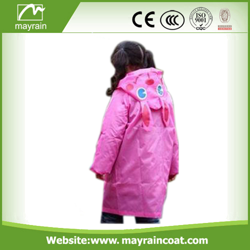 Polyester Customized Pink Rainsuit