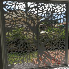Art Nouveau Laser Cut Door Panel