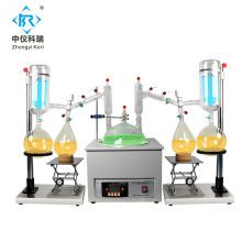 Sistema de destilación de doble recorrido corto 20l