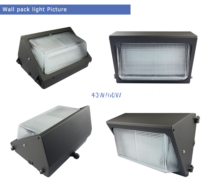 120W ETL DLC Wall Pack Led Light