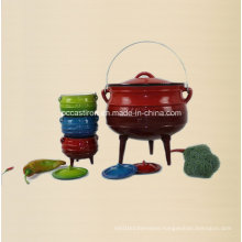 #10, #14, #18, #20 Cast Iron Potjie Pot with 3 Legs
