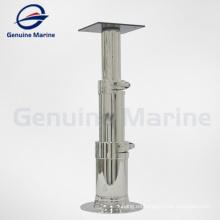 Pedestal de mesa de triple etapa de silla de barco marino de acero inoxidable ajustable marino genuino