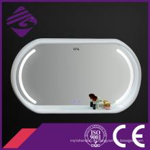 Jnh290 Touch Screen Holzrahmen LED Badezimmerspiegel mit Uhr