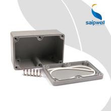 Instrument de clôture de projet en aluminium de 120 * 80 * 55 mm de haute qualité Saip Saipwell Étanche IP65, boîtier de pédale en aluminium SP-FA2