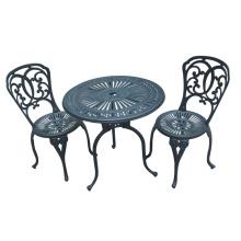 Bistro Set Cast Aluminium Patio-Garten-Outdoor-Möbel