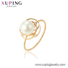 15462 xuping wholesale in guangzhou factory fashion latest pearl ring design for women wedding party gift