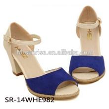 Zapatos de las sandalias del alto talón de las señoras SR-14WHE982 zapatos al por mayor del alto talón zapatos atractivos de las sandalias del alto talón