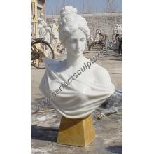 Pedra de mármore Busto cabeça de escultura para Estatueta Figurine (SY-S200)