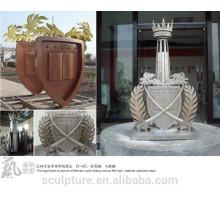 Metallschule Statue signifikante Skulptur der königlichen Militärschule in BAHRAIN installiert