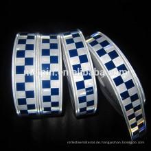 PVC-Blau-weißes reflektierendes Kontrolleur-Band für Sicherheit