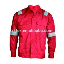 Jaqueta de solda 100% algodão retardador de fogo