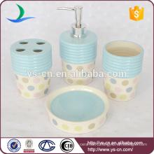 Dot design stoneware bath accessories