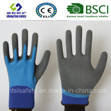 Latex Frosted Gloves, Sandy Finish Safety Work Gloves (SL-RS305)