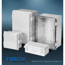 Boîte en plastique - Loquet plastique + Type de charnière