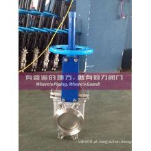 Válvula de porta bi-direcional em aço inoxidável