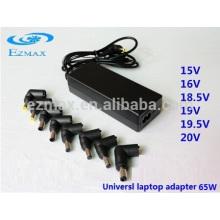 Adaptador para notebook universal AC portátil de 65W