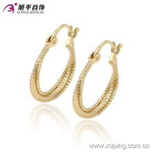 Xuping Simple Women Circle No Stone Jewelry aros Pendiente -90900