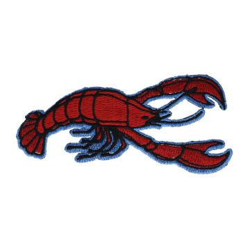 Lobster Crustacean Unique Embroidered Patches