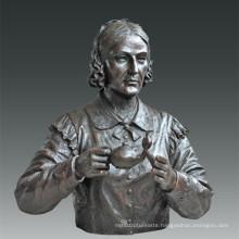 Large Figure Statue Nurse Nightingale Bronze Sculpture Tpls-083