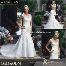 2015 Китай Производитель платье реальный образец русалка свадебное платье
