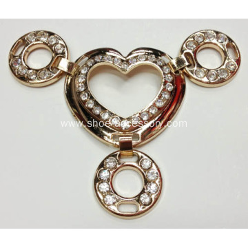Rhinestone Sandal Chain & Gem Glass Stone Shoe Accessories