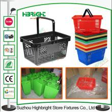 Mitigeur de supermarché en plastique panier