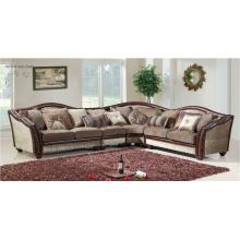 Canapé, causeuse et chaise 3 PCS en cuir et chenille pour des meubles de salon