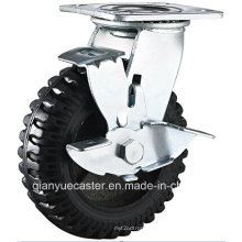 Cast Iron Flame Swivel Rubber Side Brake