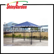 Outdoor Steel metal pole tube garden Gazebo with fabric roof tent