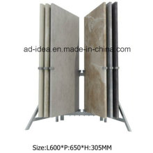 Durable Wing Metal Display Stand/ Display for Quartz Tile Exhinition