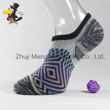Chinese Style Men Cotton Socks Low Cut Style with Gripper in The Heel