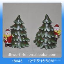 Cerámica decoración de cerámica de árboles de Navidad figurilla