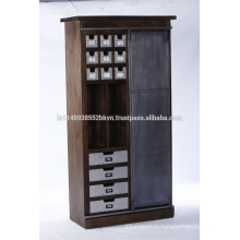 Cabinet d'armoires en bois industriel pour meubles de chambre à coucher