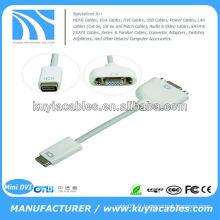 Mini câble d'adaptateur DVI vers VGA pour Apple Mac