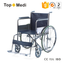 Topmedi Steel 809 Basic Standard klappbarer manueller Rollstuhl