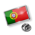 Portugal Soccer Flag Lapel Pin Dengan Epoxy