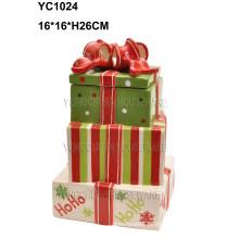 Large Hand-Painted Ceramic Cake Gift Box