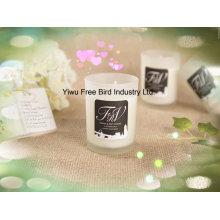 Bougie parfumée de soja faite à la main pour la maison décorative dans le bocal en verre